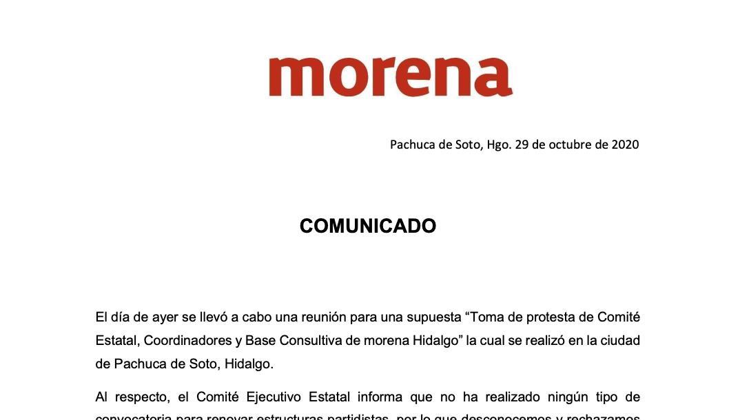 comunicado Morena