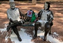 Vandalizan estatua de Fidel Castro y el Che Guevara